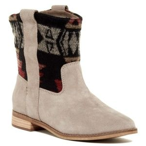 TOMS Laurel Patterned Suede Boot Women's